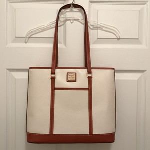 Dooney & Bourke Leather New/nwt Satchel Tote in White (Ivory) Brown