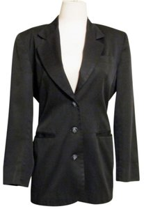 Liz Claiborne Jacket Cotton Size 4 Black Blazer