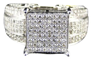Other White Gold Xl Pave Round Cut Engagement Wedding Diamond Ring Band
