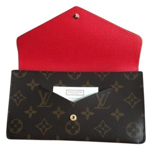 Louis Vuitton NEW Monogram Red Chili Wallet/Clutches