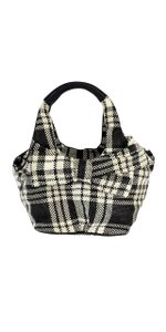 Kate Spade Black & White Plaid Tate Boulevard Hobo Bag