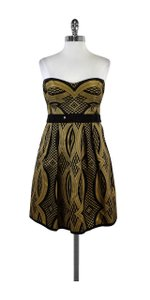 Nanette Lepore short dress Black & Bronze Beaded Waist Indochine on Tradesy