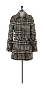 Laundry by Shelli Segal Grey Houndstooth Coat