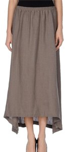 Eskandar Linen Skirt Brown