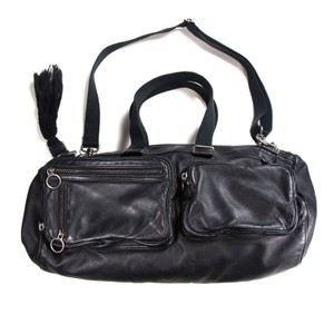 Dior Tassel Duffle Gym Deville Hedi Black Travel Bag