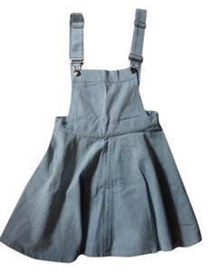Stylestalker short dress Light Denim A-line Skater Pinafore Goth on Tradesy