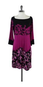 Diane von Furstenberg short dress Pink Black Garden Print on Tradesy