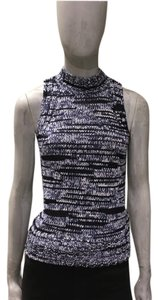 7 For All Mankind 7fam Knit Italian Yarn Sleeveless Melange Halter Sweater