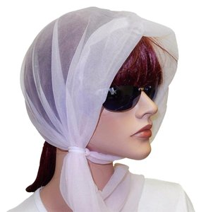 JH Smith Pink Sheer Wind Scarf Bonnets with Fastening Rings, One Size Fits All,