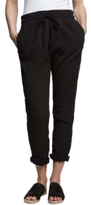 James Perse Gauze Beach Drawstring Relaxed Pants BLACK
