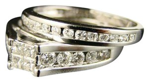 Other 14K Ladies Princess Bridal Engagement Diamond Ring Set