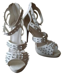 Charlotte Russe Spike Strappy White Sandals