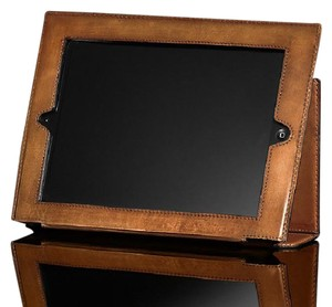 iPad with Restoration Hardware Leather case Ipad (swept clean)