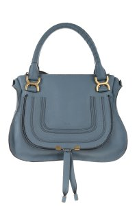 Chlo Chloe Leather Satchel in Blue