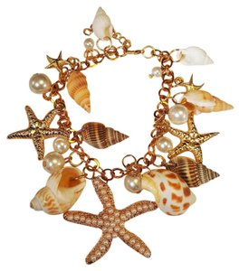Other Beach Wedding Starfish Bridesmaid Bracelet Gold Plated