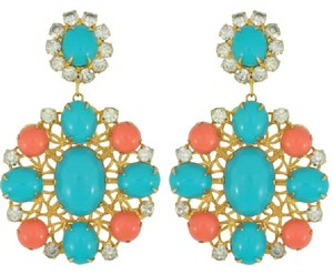 Kenneth Jay Lane Vintage Kenneth Jay Lane Coral Turquoise Earrings