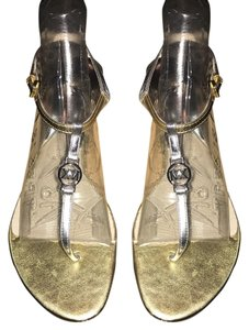 Michael Kors Gold and Silver Sandals