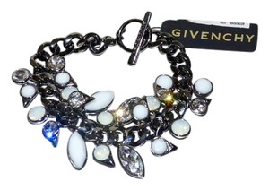 Givenchy Givenchy CZ Crystal Jewel Statement Bracelet Gunmetal