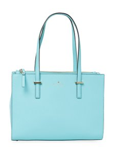 Kate Spade Cedar Street Small Jensen Leather Color Tote in Atoll Blue