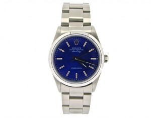 Rolex Mens Rolex Stainless Steel Air-King Blue 14000