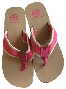 Tory Burch beige and pink Sandals