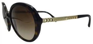Chanel Chanel Gold Chain Oval Tortoise Sunglasses 5353 c.714/S5 56