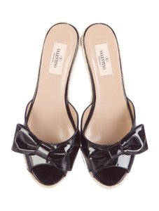 Valentino Women Bow Accent black Wedges