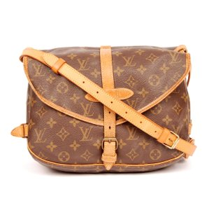 Louis Vuitton Monogram Canvas Cross Body Saumur Brown Messenger Bag