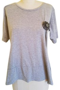 5/48 Tassels Brooch T Shirt Grey