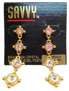 Swarovski NOS Swarovski Savvy Long Dangly Earrings - MOC