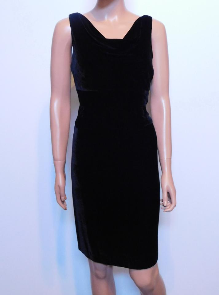 72ed2dbdb67 Antonio Melani Black New Velvet Short Cocktail Dress Size 10 (M ...