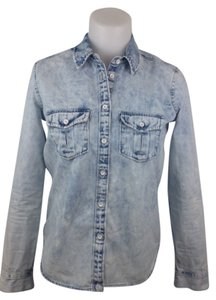 Gap Button Down Shirt Light Blue Denim