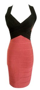 Herv Leger Bandage Cocktail Mini Dress