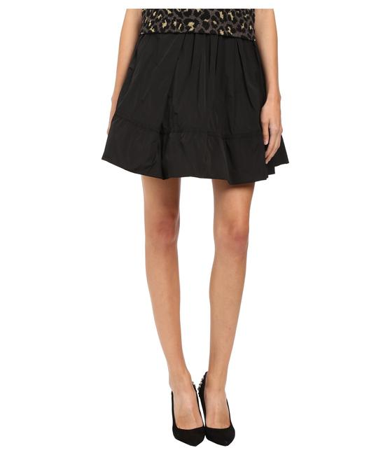Item - Black By Solid Poly Faille Gathered Large Skirt Size 12 (L, 32, 33)