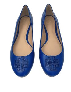 Tory Burch Melinda Blue Jelly Blue Flats