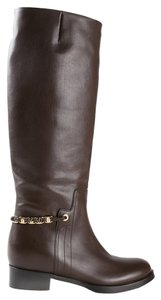 Salvatore Ferragamo Nando Brown Leather Cacao Boots