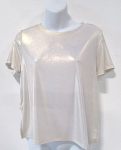 Rebecca Minkoff Metallic Hi Lo Color Block Tunic