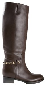 Salvatore Ferragamo Nando Riding Calf Brown Cacao Boots