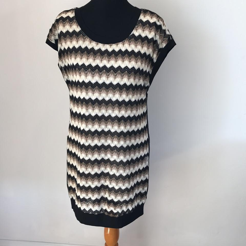 8bbbd56dae0 Trina Turk Black Green Pink White Sweater Short Casual Dress Size 4 ...