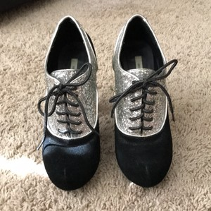 Kimchi Blue Black and Silver Mules