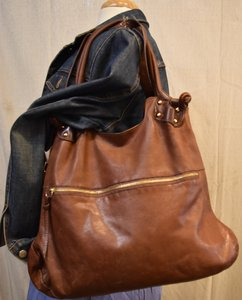 Pietro Alessandro Leather Shoulder Bag