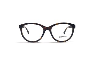 Chanel CH 3239 714 - New Round w/ Brown Quilted Sides -FAST SHIPPING!