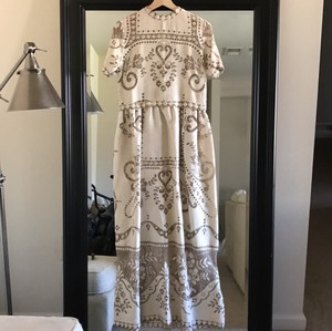 Bohemian Crochet Sheer Lace Cutout Beach Rustic Wedding Dress Wedding Dress