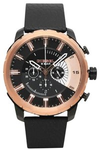 Diesel Diesel Men's Stronghold Rose Gold-Tone and Leather Watch DZ4390