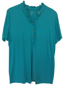 Lands' End Button Down Shirt Turquoise