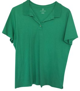 Lands' End Button Down Shirt Kelly green