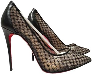 Christian Louboutin Louboutin Follies Lace Pigalle Follies Size 39.5 Black Pumps