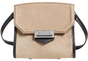 Alexander Wang Crossbody Leather Suede Black Shoulder Bag