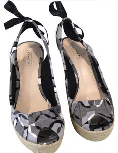 Coach Black Multi Wedges