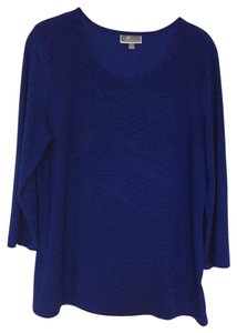 JM Collection Top Royal blue
